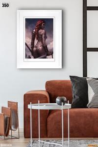 Gallery Image of Red Sonja: Birth of the She-Devil (Pre-Battle Version) Art Print