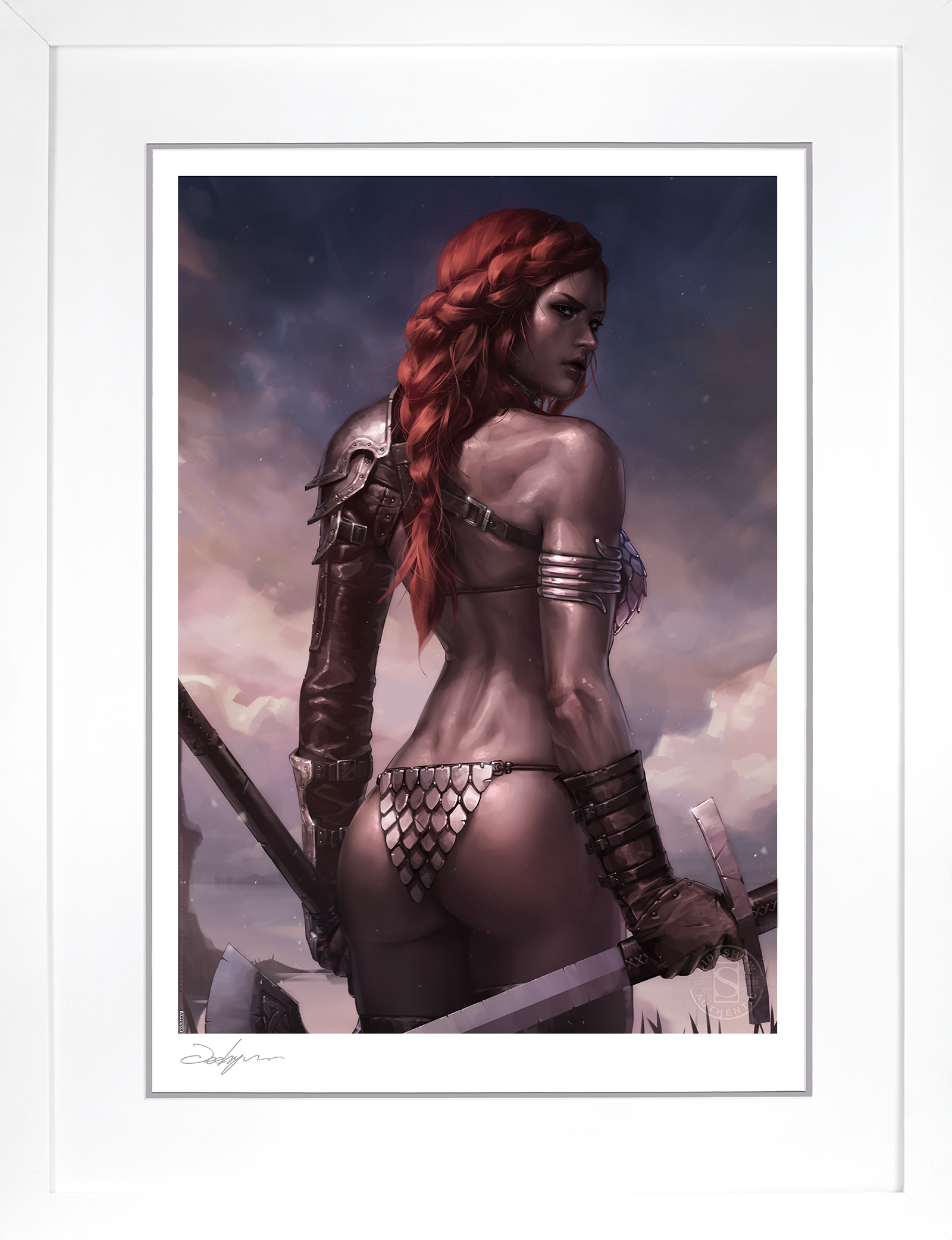 Sideshow Collectibles Red Sonja: Birth of the She-Devil (Pre-Battle Version) Art Print