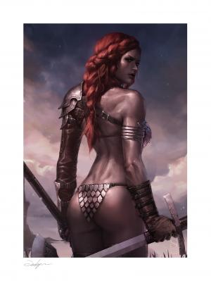 Red Sonja: Birth of the She-Devil (Pre-Battle Version) Art Print