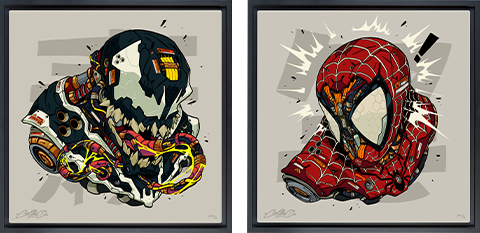 Sideshow Collectibles Spider-Man & Venom MECHASOUL Set Art Print