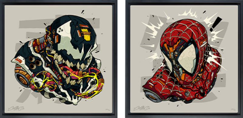 Spider-Man & Venom MECHASOUL Set Art Print -