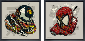Spider-Man & Venom MECHASOUL Set Art Print