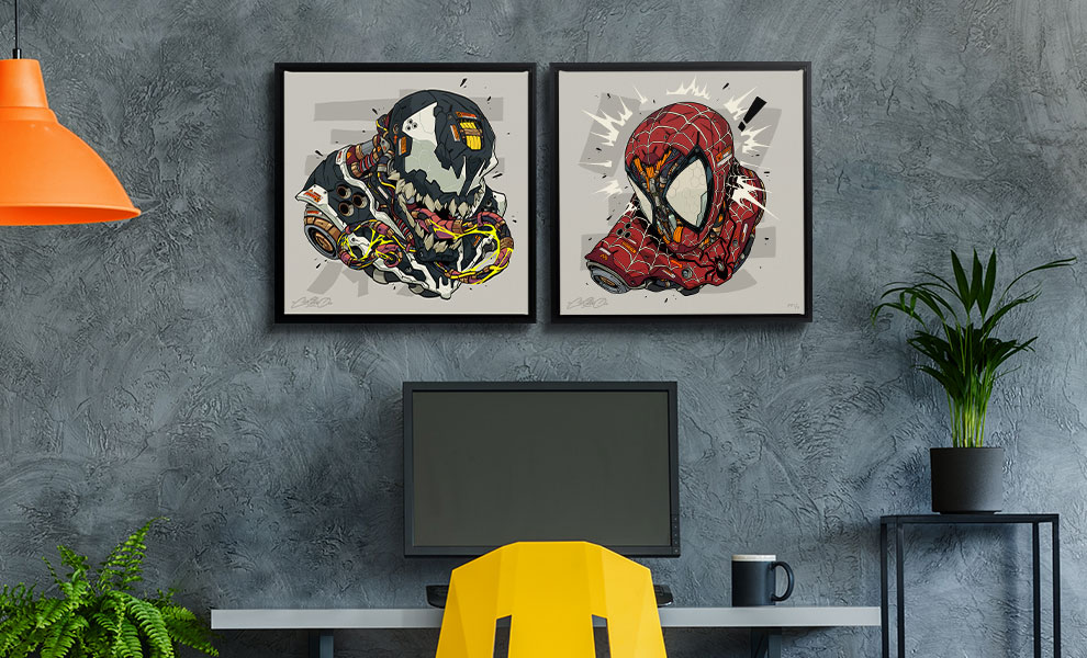 Gallery Feature Image of Spider-Man & Venom MECHASOUL Set Art Print - Click to open image gallery