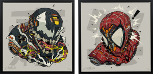 Spider-Man & Venom MECHASOUL Set Art Print