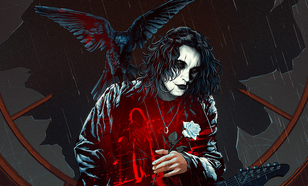 Gallery Feature Image of The Crow: Real Love Is Forever Art Print - Click to open image gallery