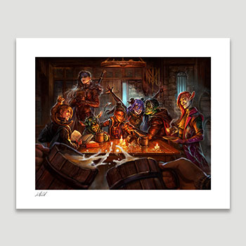 The Mighty Nein: This is How We Roll! Art Print