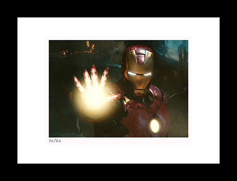 Classic Stills Iron Man Fights War Machine Art Print