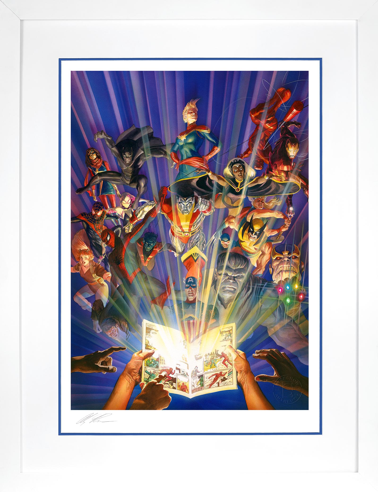 Alex Ross Art Marvel Comics #1000 Art Print