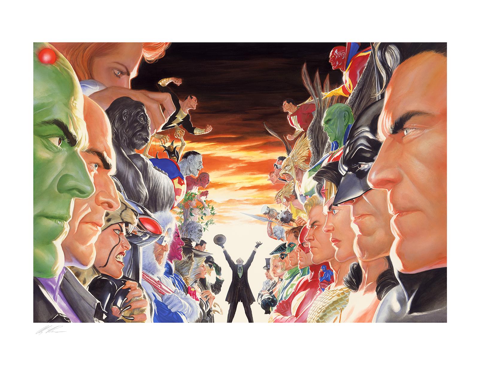 Alex Ross Art Absolute Justice: Battle Art Print