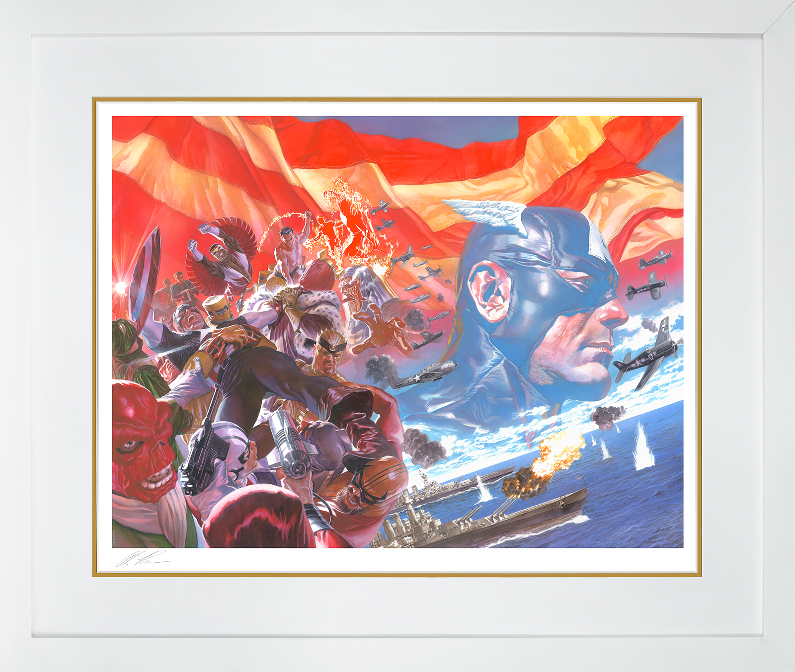 Alex Ross Art Captain America: Winter in America Art Print