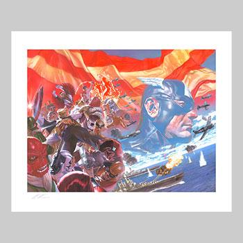 Captain America: Winter in America Art Print