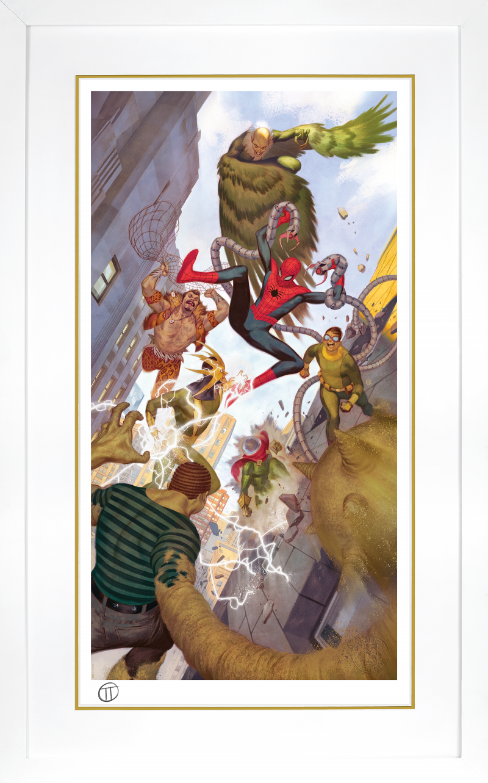 Spider-Man vs Sinister Six Art Print -