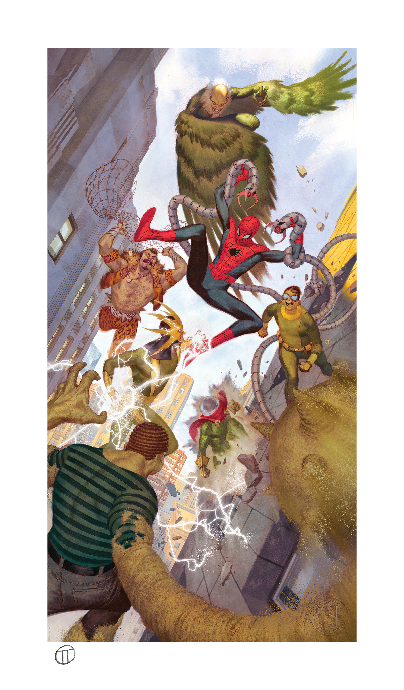 Sideshow Collectibles Spider-Man vs Sinister Six Art Print