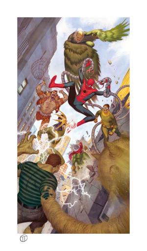 Spider-Man vs Sinister Six Art Print