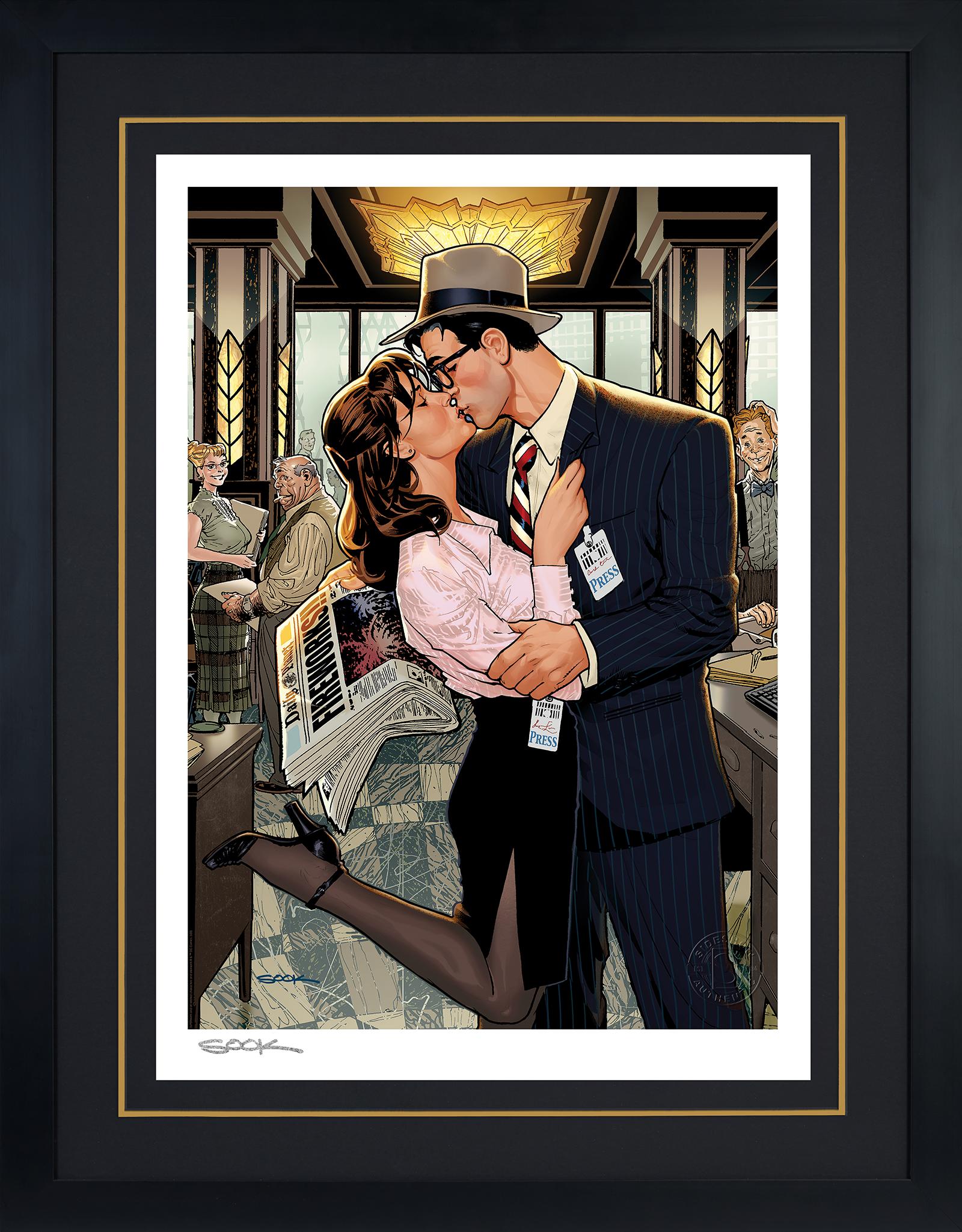 Sideshow Collectibles Lois & Clark: Fireworks!! Art Print