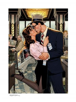 Lois & Clark: Fireworks!! Art Print