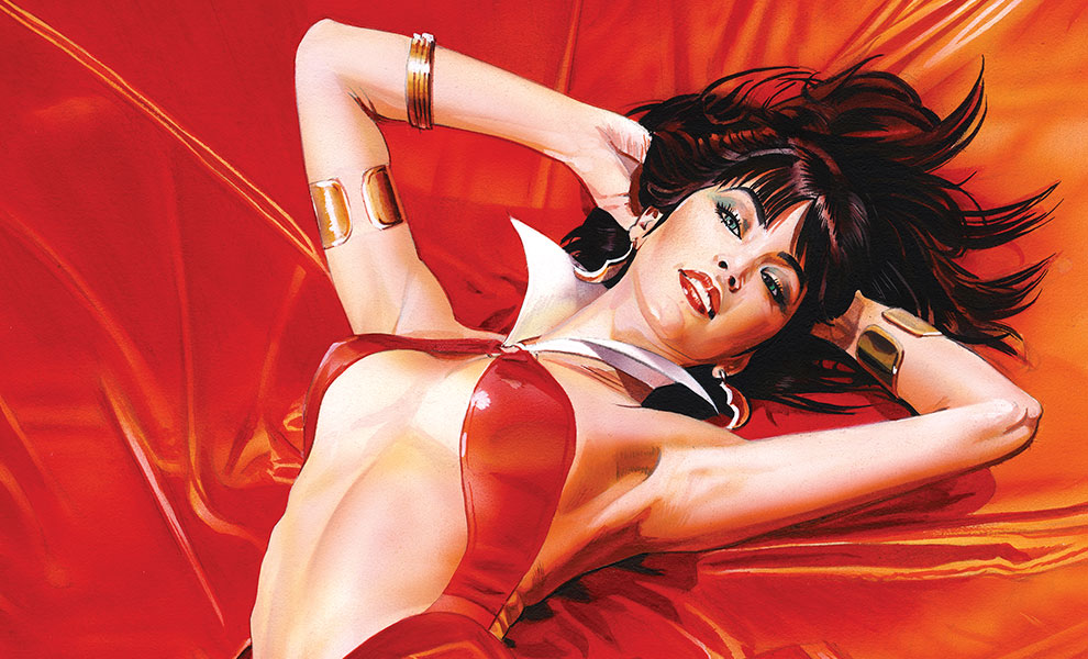 Gallery Feature Image of Vampirella: Roses for the Dead Art Print - Click to open image gallery