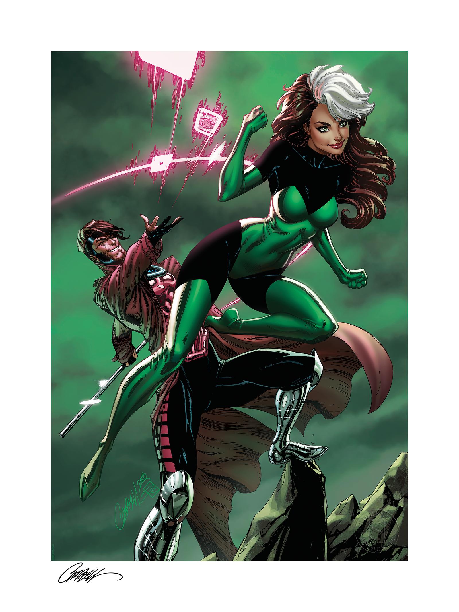 Sideshow Collectibles Uncanny X-Men: Rogue & Gambit Art Print