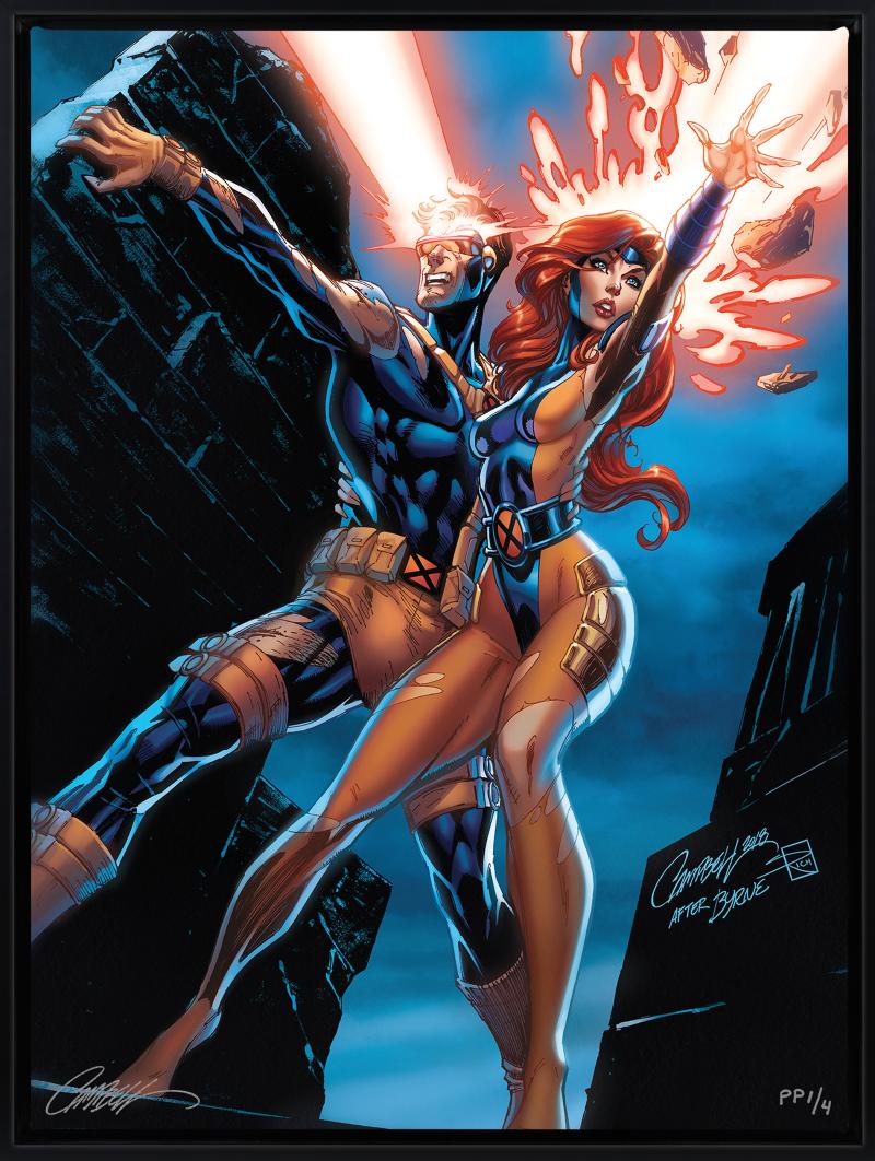 Uncanny X-Men: Cyclops and Jean Grey Art Print -