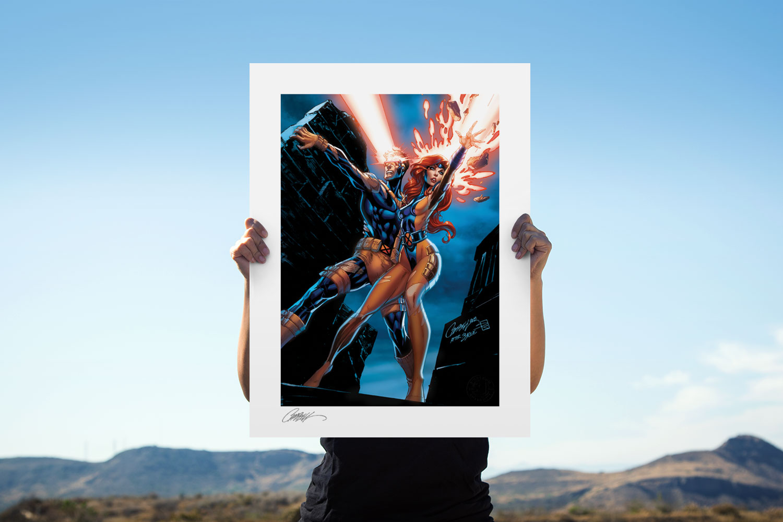 Uncanny X-Men: Cyclops and Jean Grey Art Print feature image