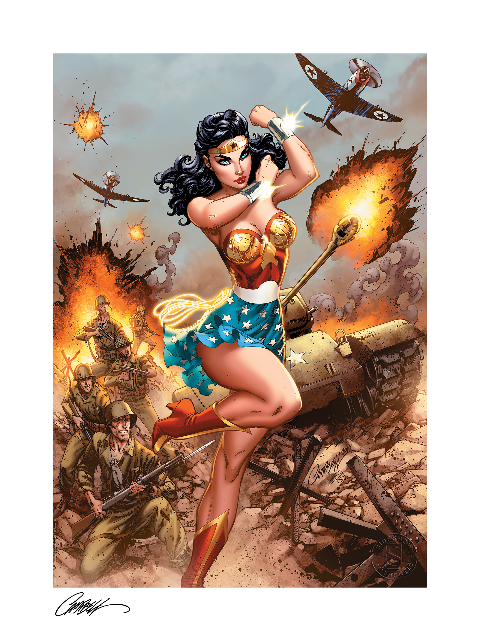 Sideshow Collectibles Wonder Woman #750: WWII Art Print