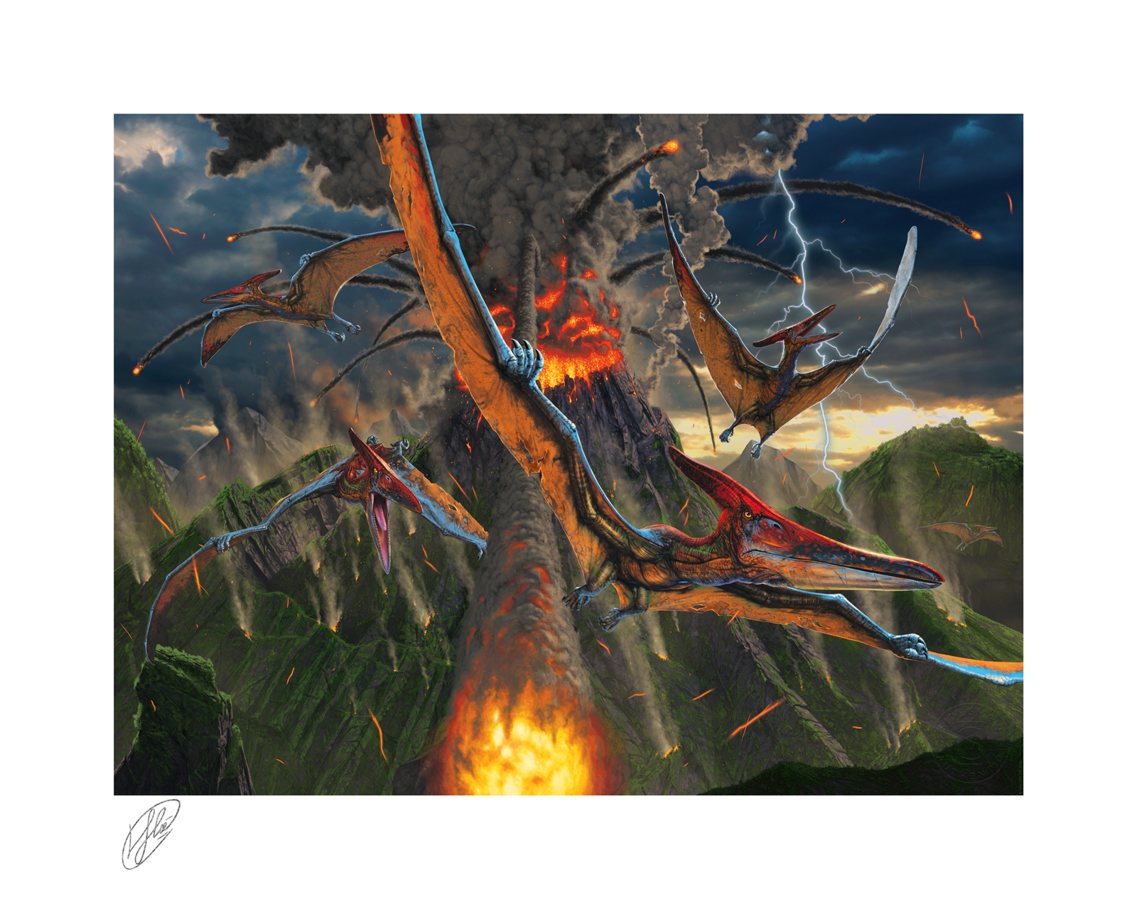 Sideshow Collectibles Eruption Art Print