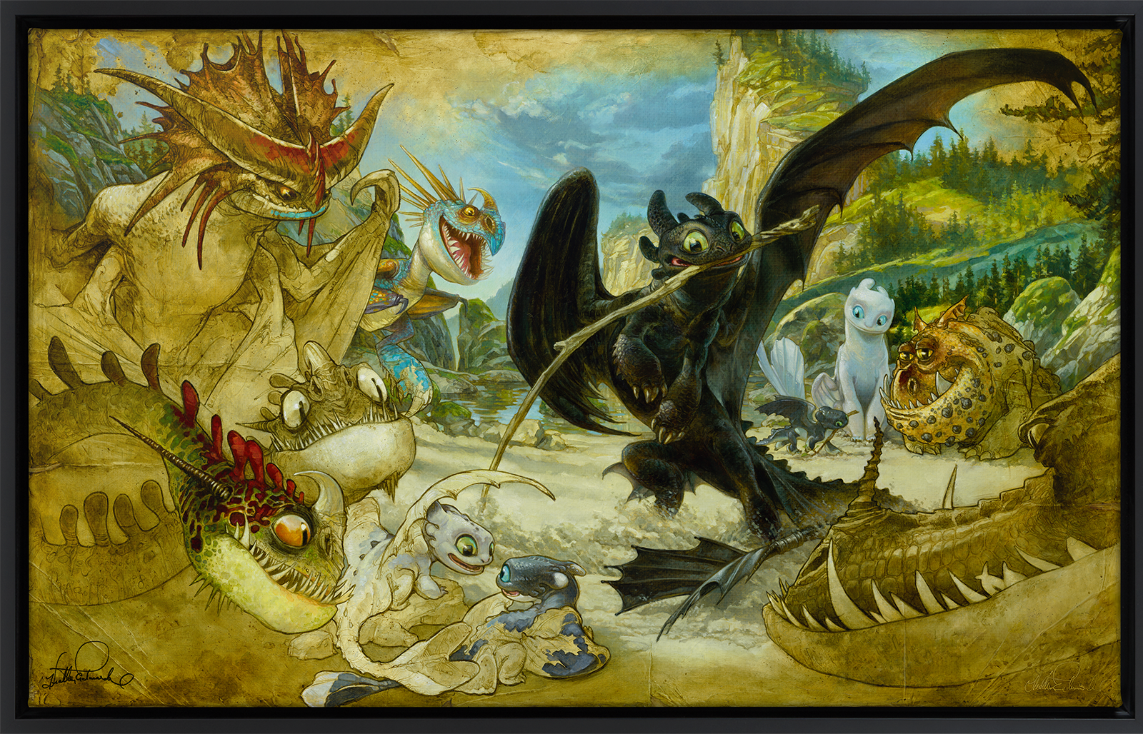 Sideshow Collectibles How To Draw Your Dragon Art Print