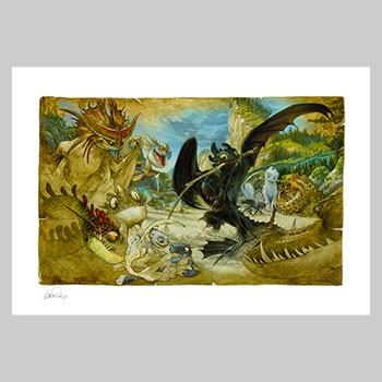 How To Draw Your Dragon Art Print