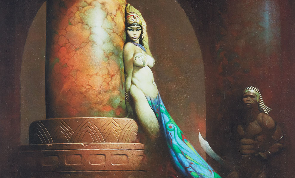 Gallery Feature Image of Egyptian Queen Art Print - Click to open image gallery