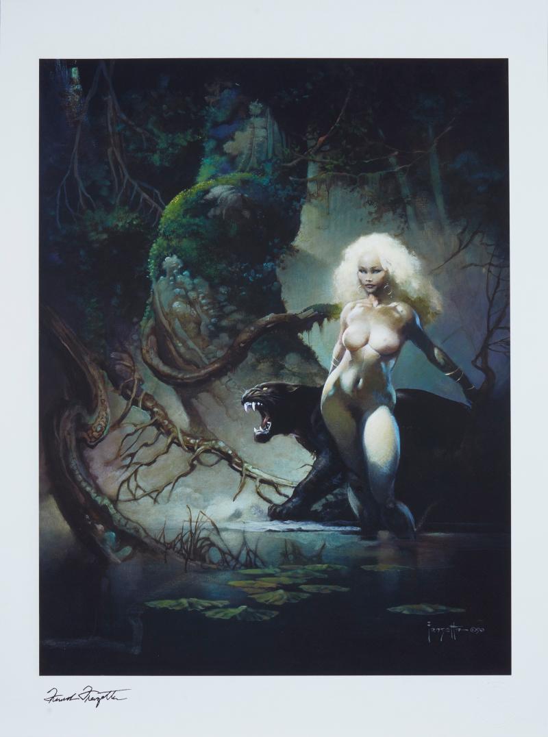 The Princess and the Panther Art Print -