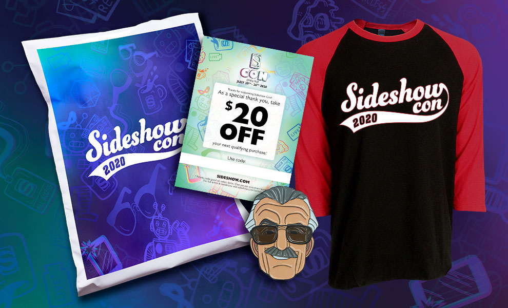 Gallery Feature Image of 2020 SideshowCon Promo Swag Apparel - Click to open image gallery