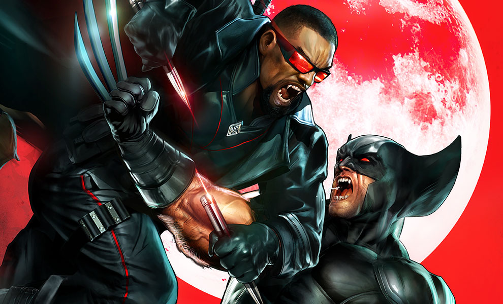 Wolverine vs Blade Art Print feature image