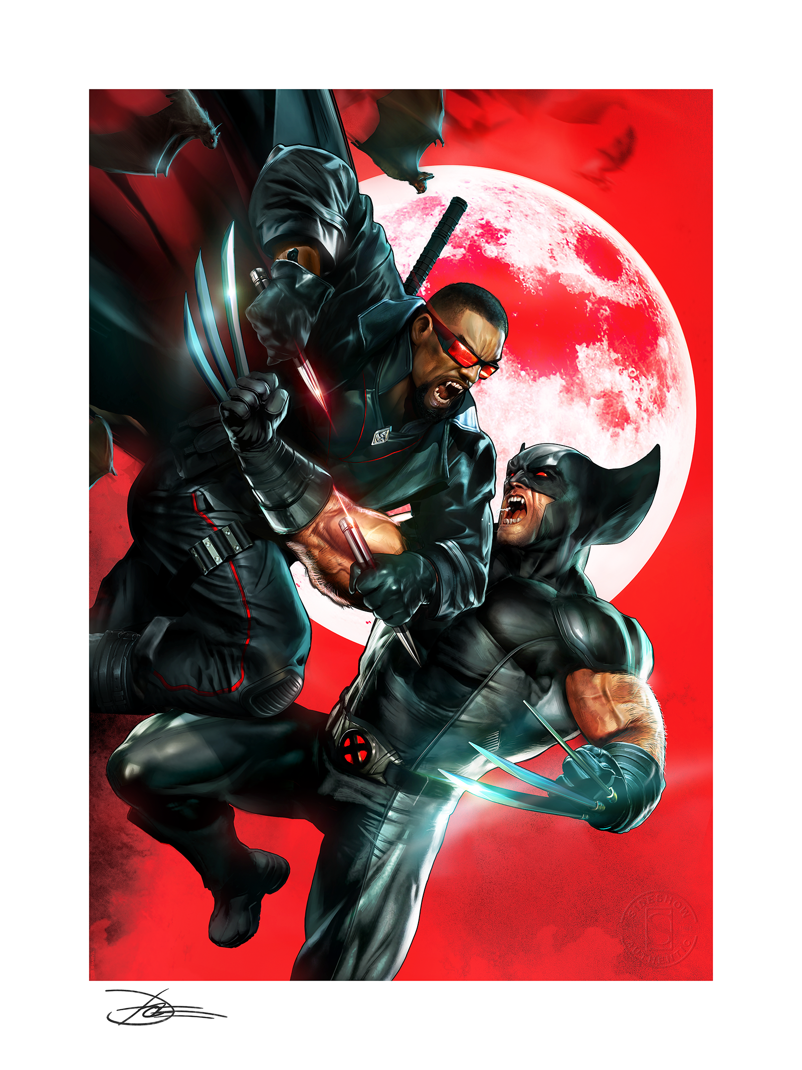 Sideshow Collectibles Wolverine vs Blade Art Print
