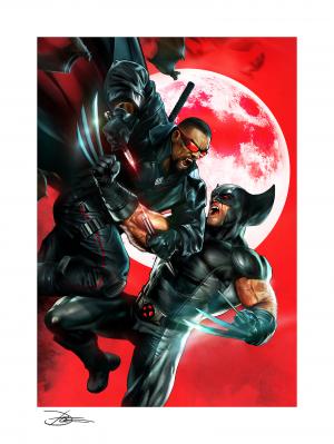 Wolverine vs Blade Art Print