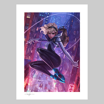Spider-Gwen Unmasked Variant Art Print