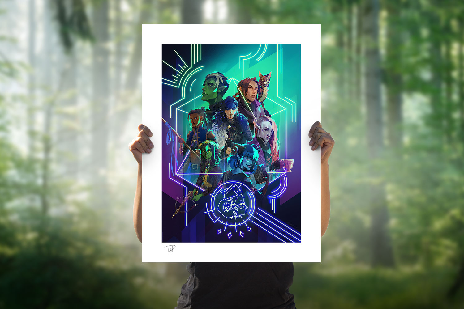 The Mighty Nein: Nat 20! Art Print feature image