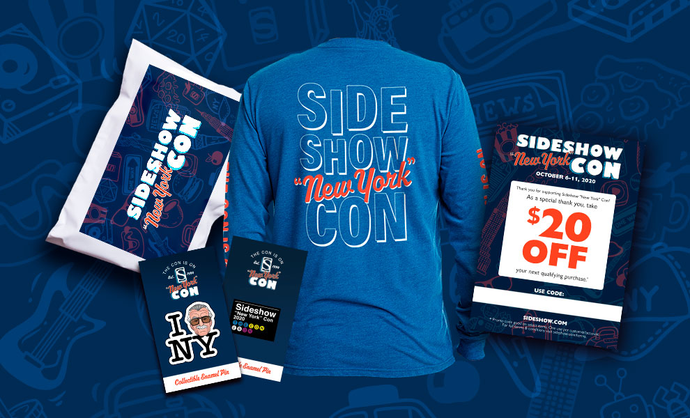 Gallery Feature Image of 2020 Sideshow 'New York' Con Swag Apparel - Click to open image gallery