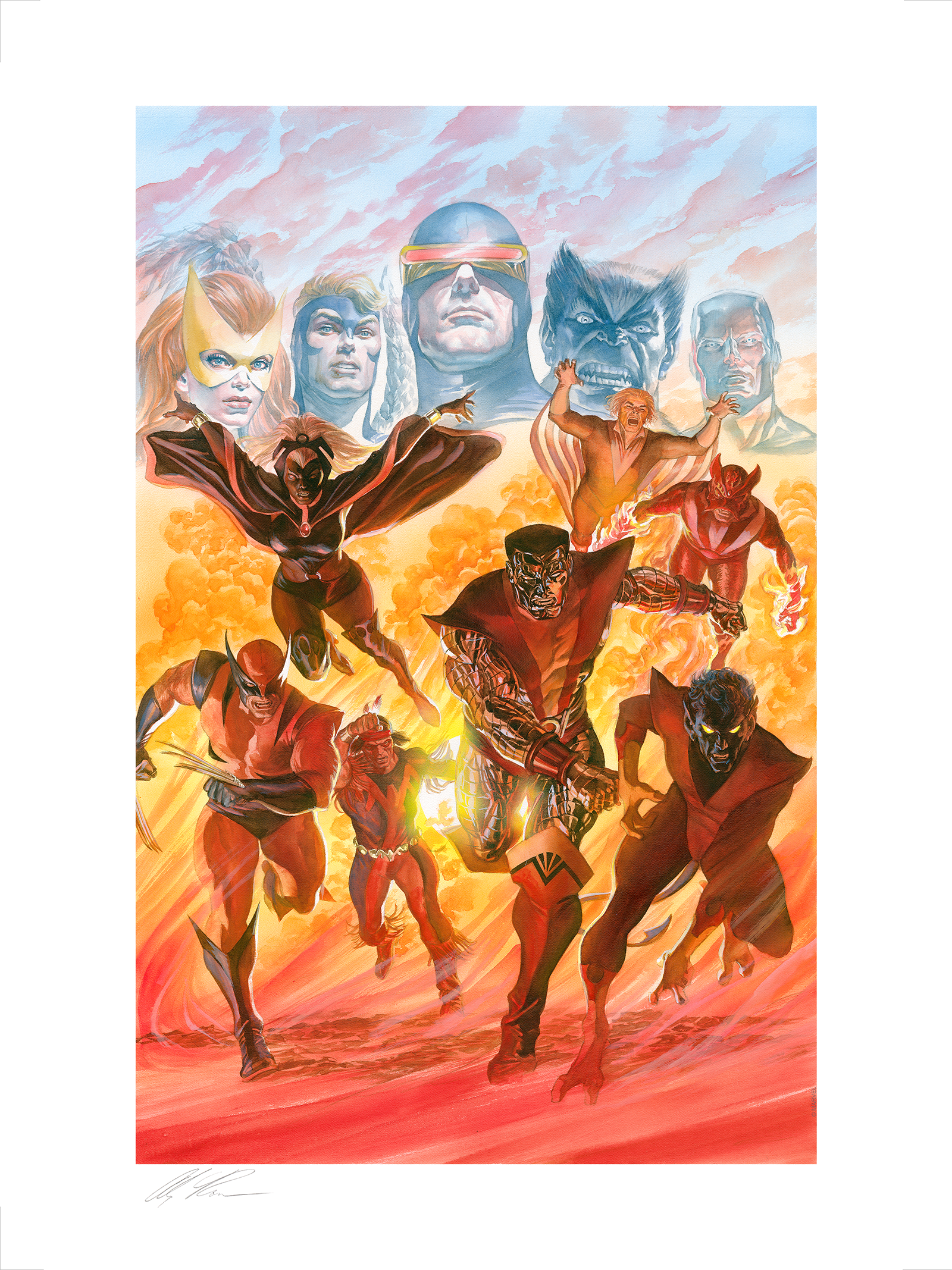 Alex Ross Art X-Men: Tribute Art Print