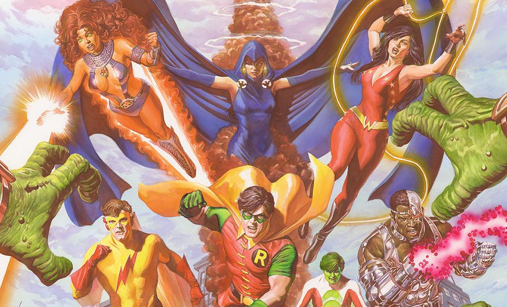 Teen Titans: Tribute Art Print feature image