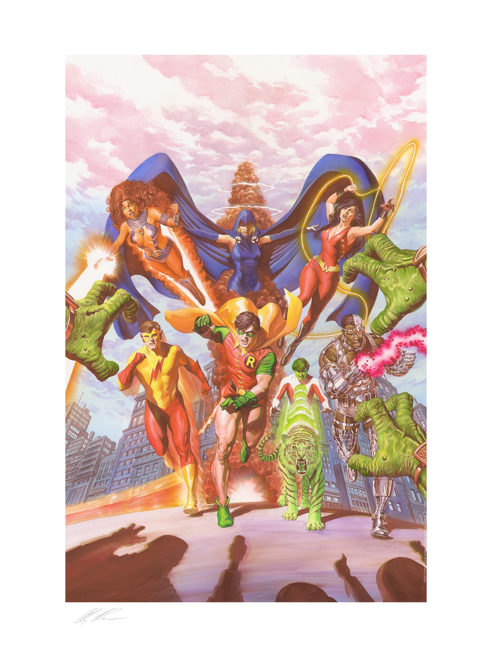 Alex Ross Art Teen Titans: Tribute Art Print