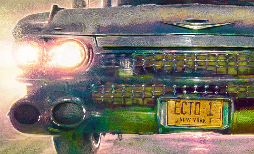 Gallery Feature Image of Ecto-1 Art Print - Click to open image gallery