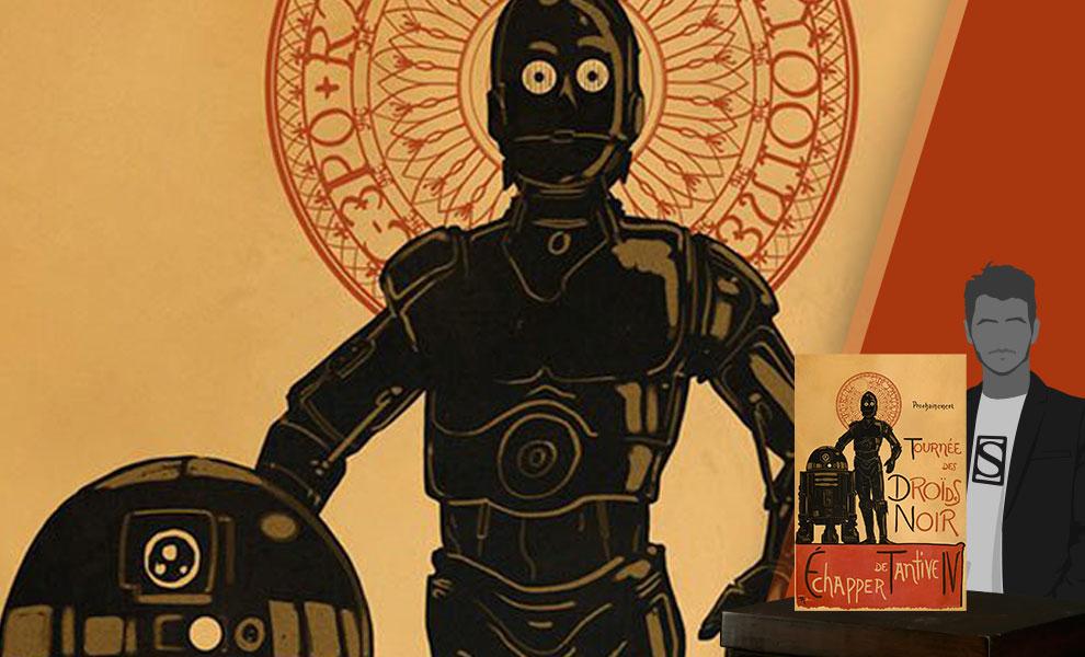 Droides Noir Art Print feature image