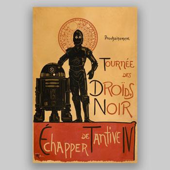 Droides Noir Art Print