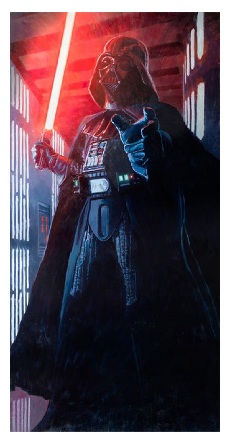 Confronting Vader Art Print - Giclee on Paper