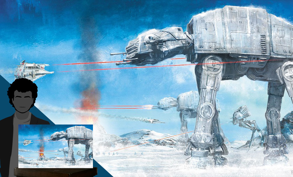 Gallery Feature Image of Assault on Echo Base Art Print - Click to open image gallery