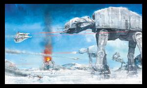 Assault on Echo Base Art Print