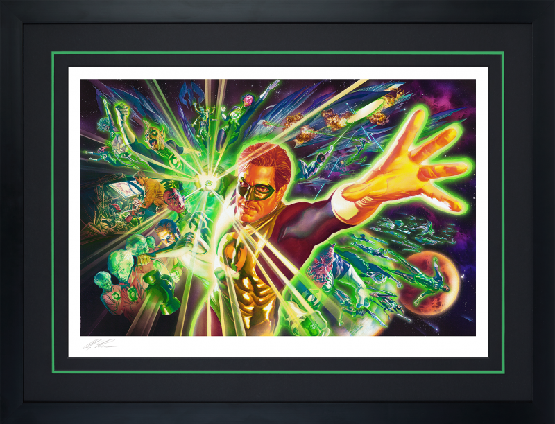 The Green Lantern Corps Art Print -