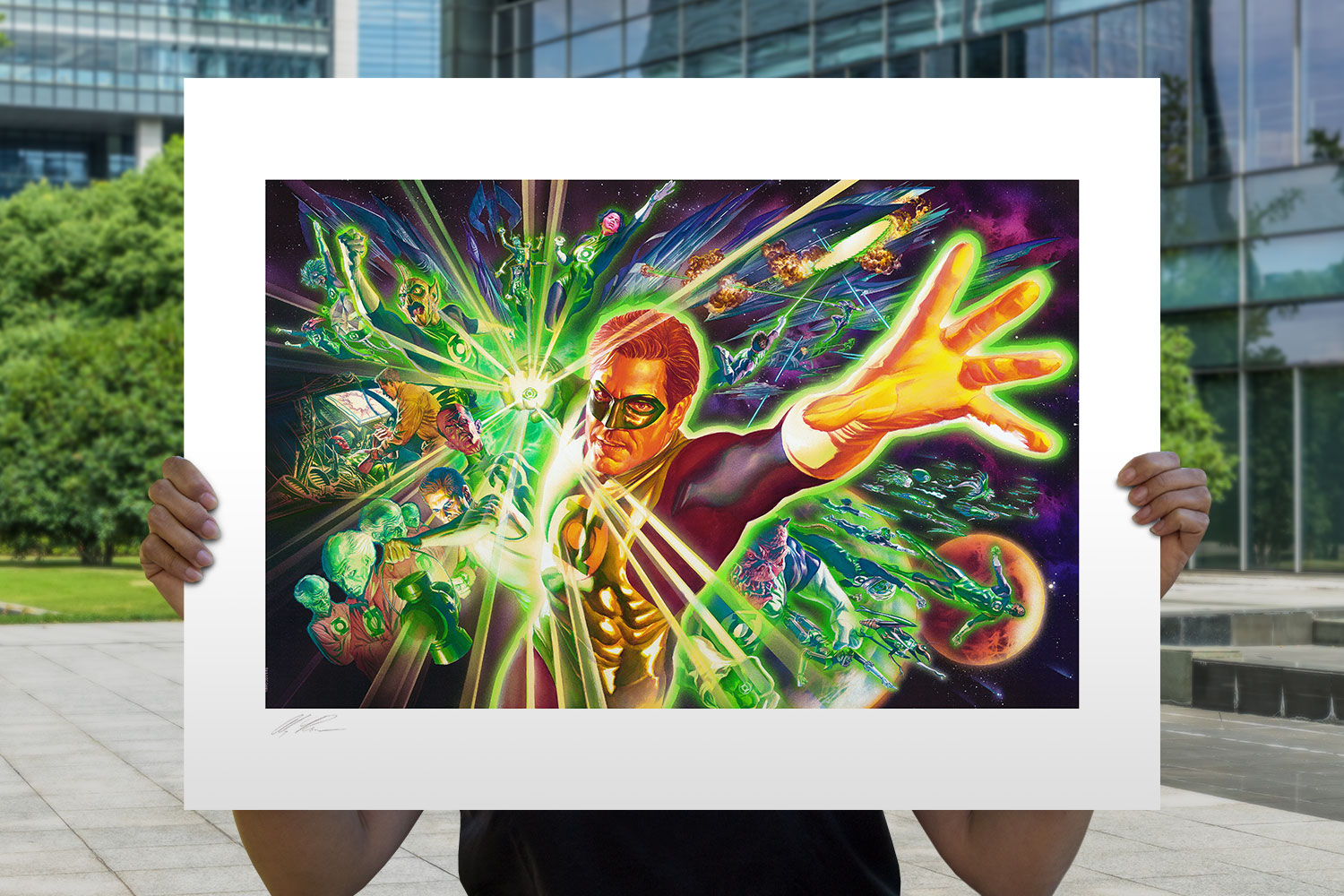 The Green Lantern Corps Art Print feature image
