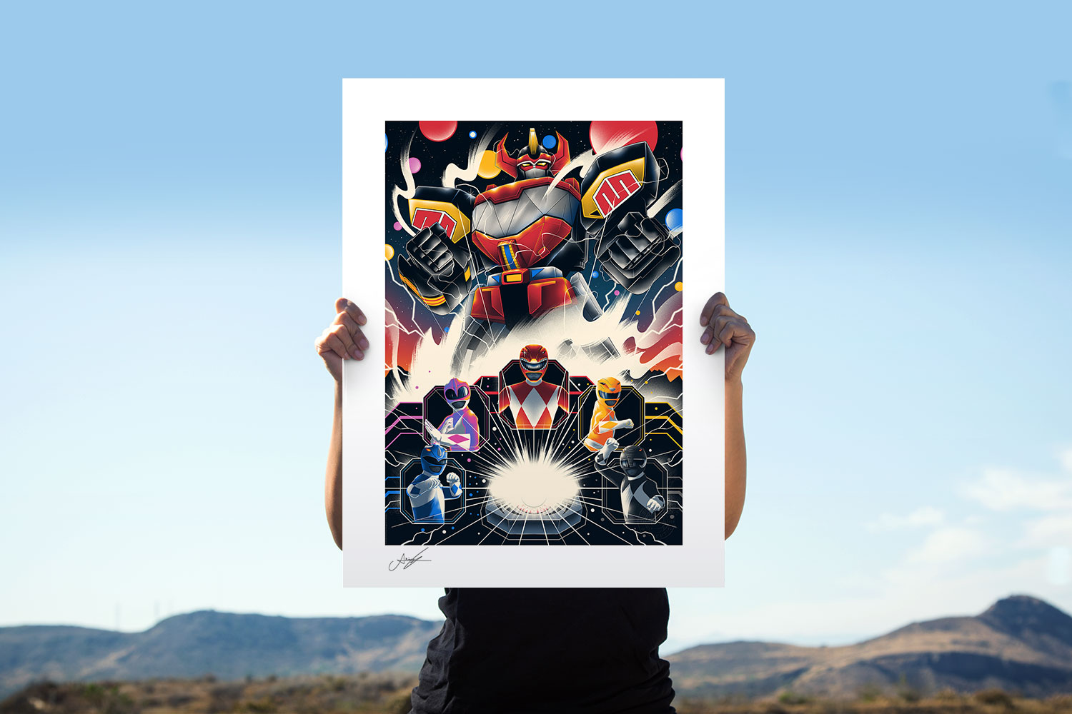 Mighty Morphin Power Rangers! Art Print feature image