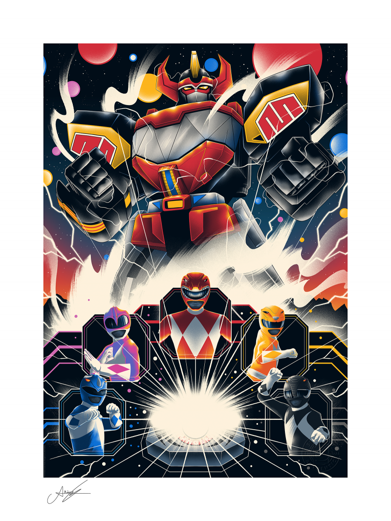 Mighty Morphin Power Rangers! Art Print -
